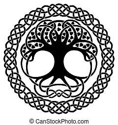 Celtic national ornaments. - Celtic national ornament tree...