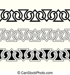 Celtic national seamless ornament.