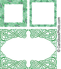 Celtic ornament borders - Three Abstract Celtic patterns ...