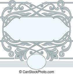 Celtic ornament frame style.