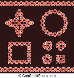 Celtic ornamental design elements. - Set collection of...