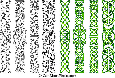 Celtic ornaments and elements - Green celtic ornaments and ...