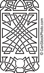 Celtic pattern in the form of a phone
