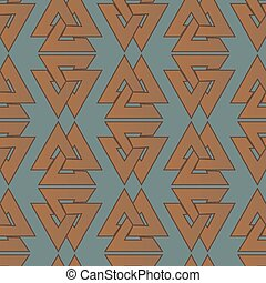Seamless pattern with celtic grid