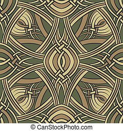 Celtic pattern - Seamless pattern drawn in celtic ornament...
