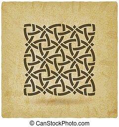 Celtic pattern vintage background