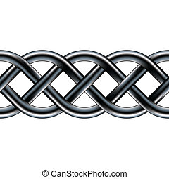 Celtic rope seamless border - Serpentine celtic pattern in...