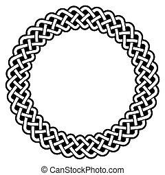 Celtic round frame, border pattern