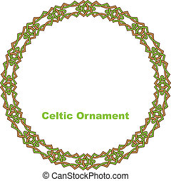 Celtic round frame. Vector illustration.