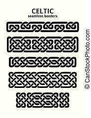 Celtic seamless borders