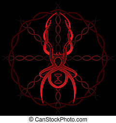 Celtic spider - Celtic black widow tattoo pattern