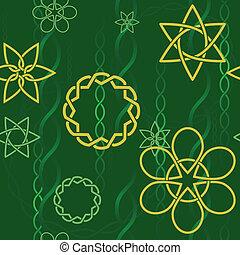 Celtic spring background