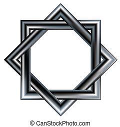 Celtic star vector