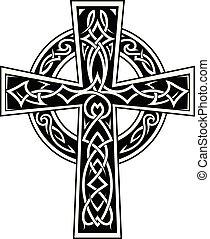Celtic style cross tattoo