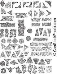 Celtic style design elements