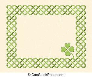 Celtic style knot frame - Traditional green celtic style...