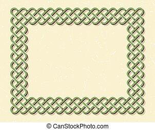 Celtic style knot frame