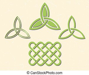 Celtic style knots - Traditional green celtic style braided...