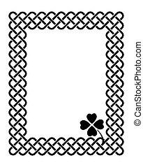 Celtic style shamrock frame - Traditional celtic style...