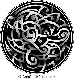 Celtic style tattoo