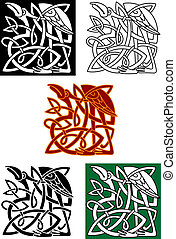Celtic totems with birds - Celtic totems with heron birds...