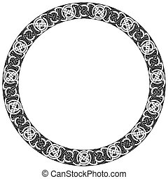 Celtic traditional ornament.