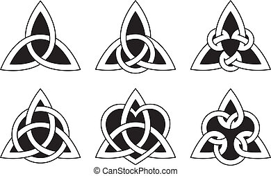 Celtic Triangle Knots - A variety of celtic knots used for...