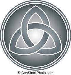 celtic trinity knot vector illustration