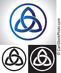 Celtic Trinity Knot Vector illustration.