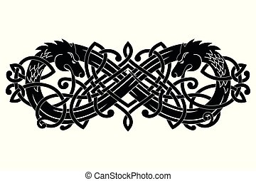 Celtic two-headed dragon.