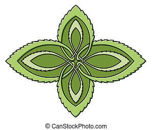celtico, menta, nodo