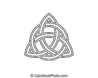 celtico, triquetra., simbolo, illustrazione, vettore, knot.,...