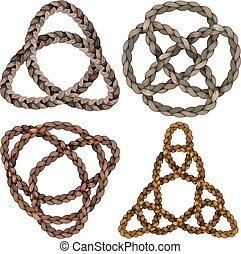 celtique, ensemble, noeud