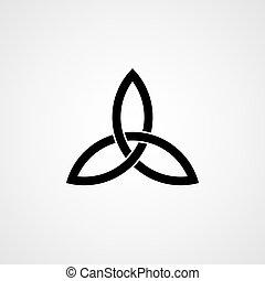 celtique, knot., trinité