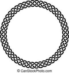 celtique, méandre, art, noeud