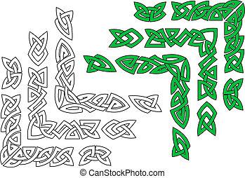 celtique, ornements, et, motifs