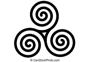 celtique, triskele, spirale, triple, ou