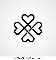 celtique, vecteur, knot.