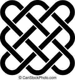 celtique, vecteur, noeud, interminable