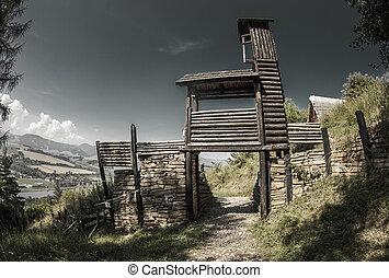 celtycki, bramka, na, havranok, -, slovakia