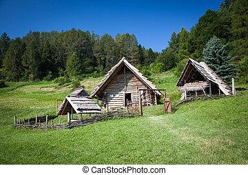 celtycki, osada, na, havranok, -, slovakia