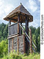 celtycki, strażnica, na, havranok, -, slovakia