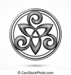celtycki symbol, wektor, kamień, triskel