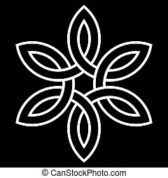 celtycki, wektor, 6-point, węzeł