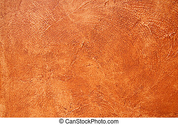 Cement background with a texture of a orange wall
