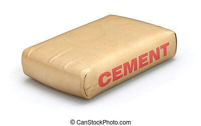 Cement bag - 3D illustration