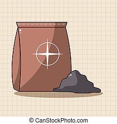cement bag theme elements