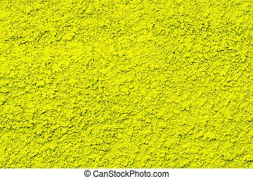 cement, bakgrund, vägg, gul