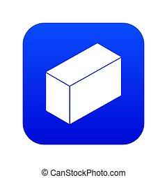 Cement block icon blue