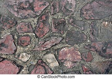 Cement block pathway